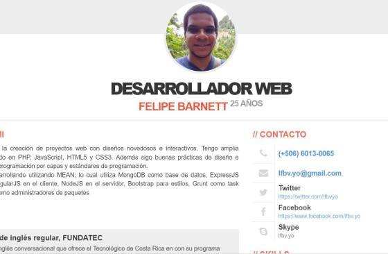 Currículo Felipe Barnett